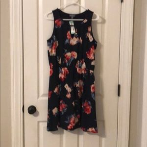 Navy floral dress - new with tags